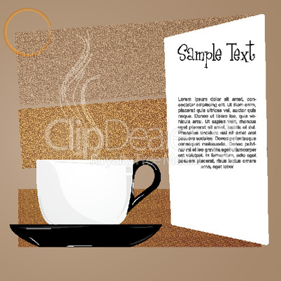 coffee with sample card