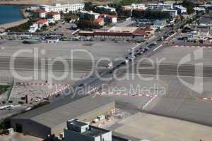 Landebahn des Flughafens Gibraltar