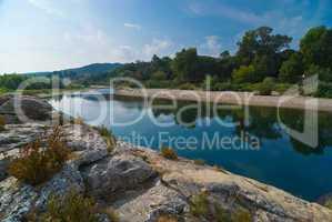 Am Fluss Gardon, Südfrankreich - At the gardon river, southern f