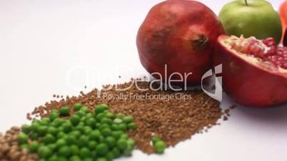 Fruit vegetables bread