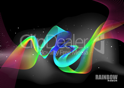 rainbow ribbon bright