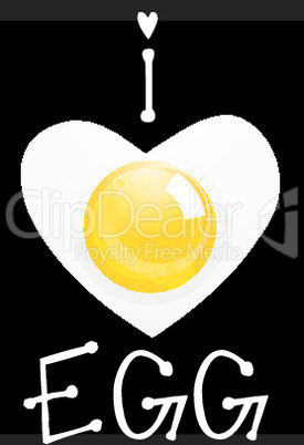 illustration of egg with heart