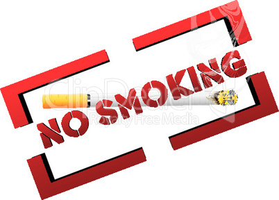 illustration of no smoking