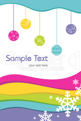 colorful sample card