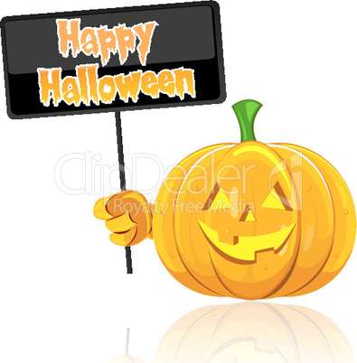 illustration of halloween card