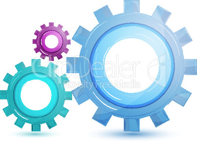 gear tool on white background