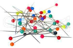 bunter Nadelhaufen / colorful needle clusters