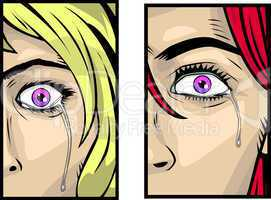 Eyes of girl