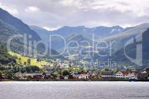Village in Norvegian fjords