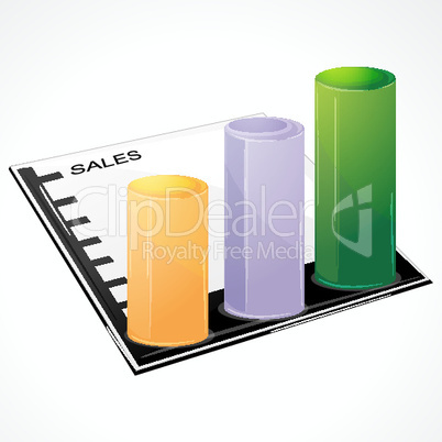 sale graph on white background