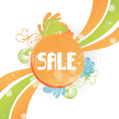 colorful floral sale sign