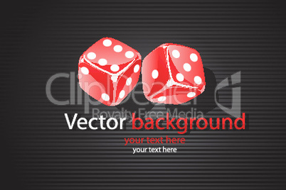 vector background with dice