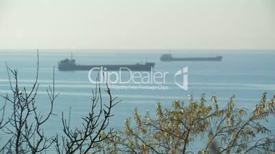 Nautical vessel on spot-check.