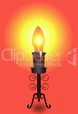 Lamp-candle