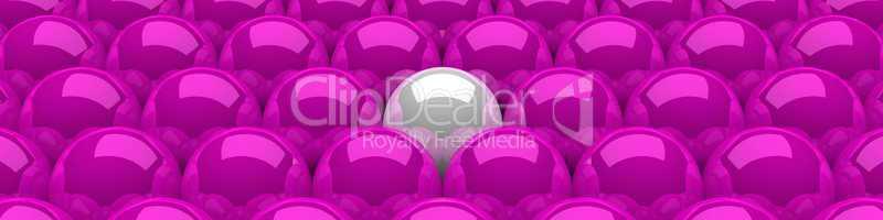 3D Kugeln Pink Weiß 05