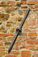 Armierung einer Hauswand eines Hauses in der Toskana - Detail of a house wall of a house in tuscany, italy