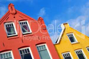 Nostalgische bunte Hausfassaden in Nordfriesland