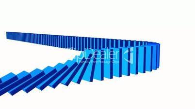 3D Domino-Effekt - Blau 04