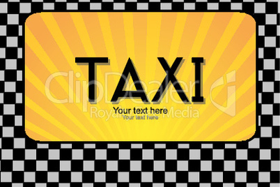 illustration of taxi text
