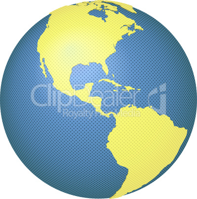 Globe with North and South Americas
