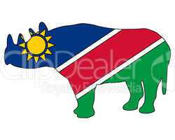 Namibia Spitzmaulnashorn