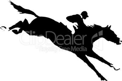 Vector horse with a jockey