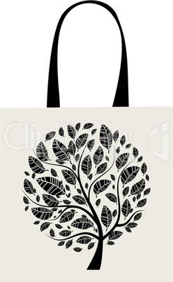 Shopping bag design, art tree