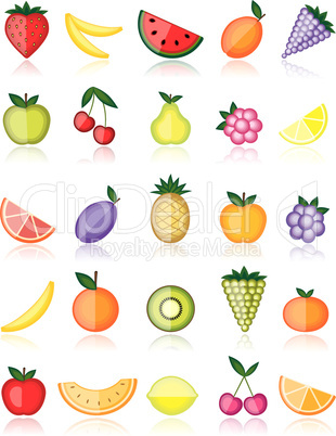 Energy fruits. Vector collection for your design