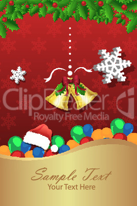 hristmas card with bell