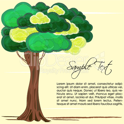 nature card with tree