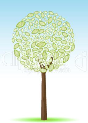 illustration of sketchy tree