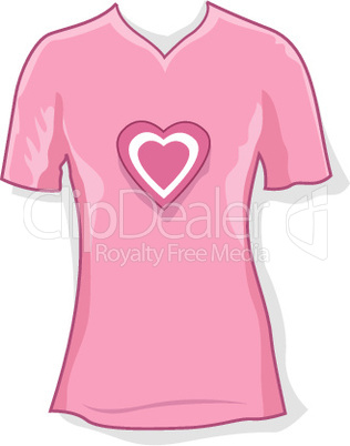 lady wear with heart