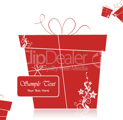 illustration of gift card
