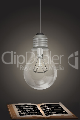 electric bulb with book