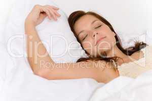 Bedroom - young woman sleeping