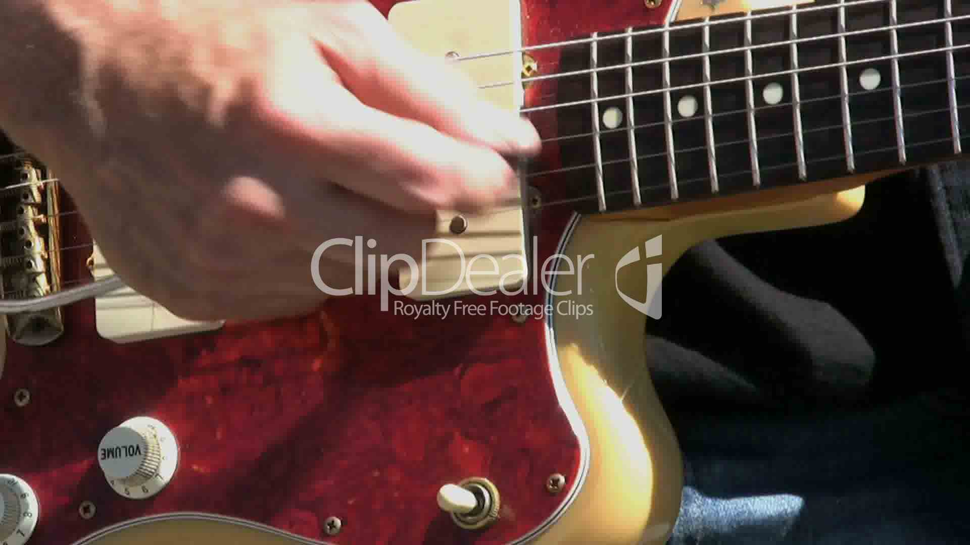 Whammy Bar On Vintage Guitar Royalty Free Video And Stock Footage