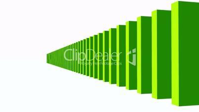3D Domino-Effekt - Grün 02