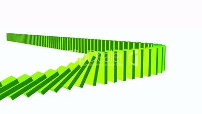 3D Domino-Effekt - Grün 01