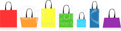 Shopping bags isolated for your design