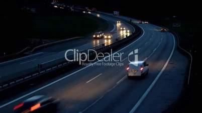Autobahn Abends - Motorway Evening