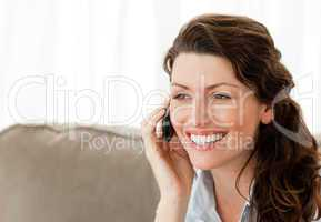 Beautiful woman speaking on the phone