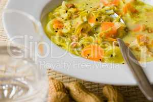 Afrikanische Erdnuss Lauch Suppe - African vegetable soup