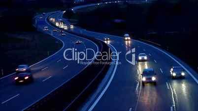 Autobahn bei Nacht - Motorway at Night