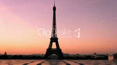 Eiffelturm, Paris - Zeitraffer