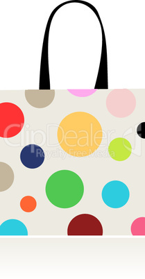 Fashion peas, shopping bag isolated for your design