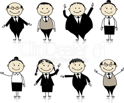 Set of business persons for your design