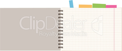 Notebook open page for your design