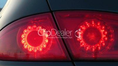 Auto Rücklichter beim Bremsen - Car rear Lights