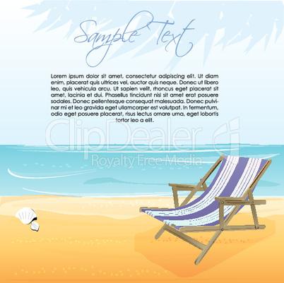 sea beach with chair