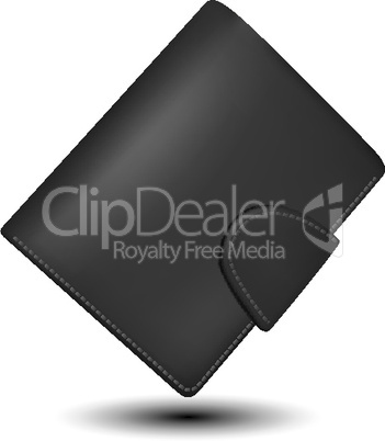 leather wallet on isolated background